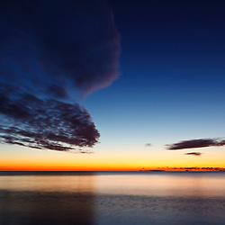 Dawn over the Atlantic, Rye, New Hampshire.