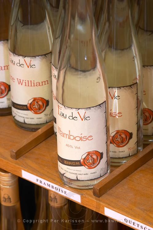 wine shop eau de vie framboise dom paul zinck eguisheim alsace france