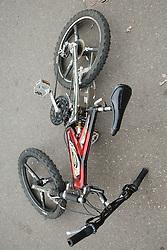 Bike on pavement.