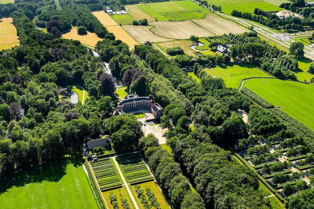 "Nederland, Utrecht, Baarn, 09-06-2016;<br /> Kasteel Groeneveld, kasteel en landgoed, in gebruik als ""Buitenplaats voor stad en land"" van Staatsbosbeheer. <br /> Castle Groeneveld, castle and estate. In use as ""country seat for town and country"".<br /> luchtfoto (toeslag op standard tarieven);<br /> aerial photo (additional fee required);<br /> copyright foto/photo Siebe Swart"