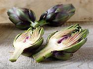 Fresh Globe Artichokes (Cynara  cardunculus)