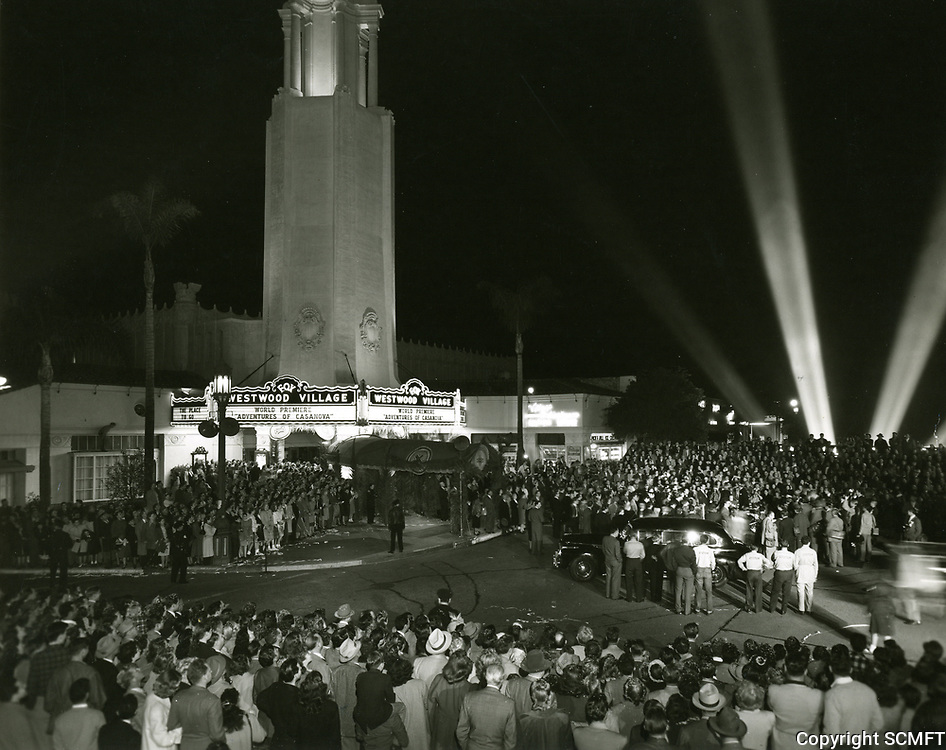 """1938 Premiere of """"Adventures of Casanova"""" at the Westwood Theater"""