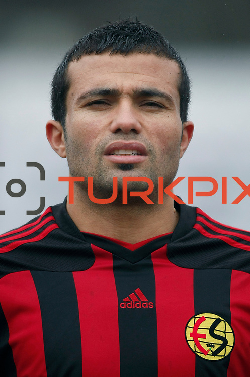 Eskisehirspor's Hurriyet Gucer during their Turkey Cup matchday 3 soccer match Eyupspor between Eskisehirspor at Eyup Stadium in Istanbul Turkey on Wednesday, 11 January 2012. Photo by TURKPIX