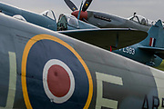 Spitfires on the flight line - The Duxford Battle of Britain Air Show is a finale to the centenary of the Royal Air Force (RAF) with a celebration of 100 years of RAF history and a vision of its innovative future capability.