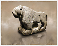 Picture & image of a Hittite Sculpture of a Lion Fron the Gate To Aslantepe, Malatya Province Turkey. Museum of Anatolian Civilisations, Ankara.<br /> <br /> If you prefer to buy from our ALAMY STOCK LIBRARY page at https://www.alamy.com/portfolio/paul-williams-funkystock/hittite-art-antiquities.html . Type - Aslantepe - in LOWER SEARCH WITHIN GALLERY box. Refine search by adding background colour, place, museum etc.<br /> <br /> Visit our HITTITE PHOTO COLLECTIONS for more photos to download or buy as wall art prints https://funkystock.photoshelter.com/gallery-collection/The-Hittites-Art-Artefacts-Antiquities-Historic-Sites-Pictures-Images-of/C0000NUBSMhSc3Oo