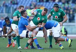 February 24, 2019 - Rome, Italy - Italy v Ireland - Rugby Guinness Six Nations.Dave Kilcoyne of Ireland tackled by Abraham Jurgens Steyn of Italy at Olimpico Stadium in Rome, Italy on February 24, 2019. (Credit Image: © Matteo Ciambelli/NurPhoto via ZUMA Press)