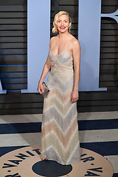 Sienna Miller arriving at the Vanity Fair Oscar Party held in Beverly Hills, Los Angeles, USA.