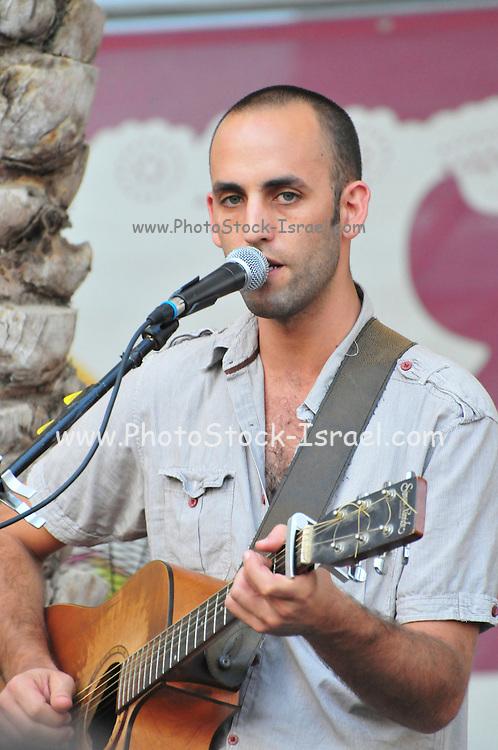 Israel, Haifa, Itay Pearl and in an outdoor concert