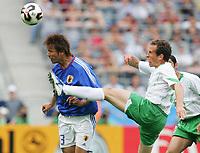 Fotball, 16. juni 2005, <br /> Conferderations Cup Japan - Mexico <br /> v.l. Atsushi YANAGISAWA , Gerardo TORRADO Mexico<br />  Norway only