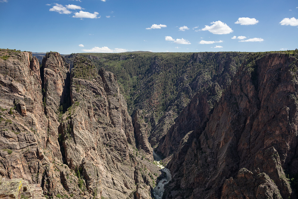 Black Canyon of the Gunnison National Park North Rim, Views on Black Canyon Road