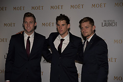 November 9, 2017 - London, England, United Kingdom - Jack Sock of The USA (L), Dominic Thiem of Austria (C) and David Goffin of Belgium arrive at The Official Launch for ATP Finals, held at the Tower of London prior to the start of ATP World Tour Finals Tennis at O2 Arena, London on November 9, 2017. (Credit Image: © Alberto Pezzali/NurPhoto via ZUMA Press)