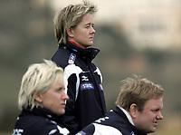 Fotball<br /> La Manga - Spania<br /> 11.02.2008<br /> Tournament women U23<br /> Norge v Tyskland / Norway v Germany 0-1<br /> Foto: Morten Olsen, Digitalsport<br /> <br /> L-R: Reidun Seth - Gøril Kringen - Roger Finjord