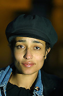 English author Zadie Smith pictured at the Old Quad at the University of Edinburgh where she and Martin Amis jointly won the James Tait Black Memorial Prize, the UK's oldest literature award for their most recent works.