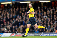 LONDON,ENGLAND - DECEMBER 05: referee Danny Makkelie during the UEFA Champions League group C match between Chelsea FC and Atletico Madrid at Stamford Bridge on December 5, 2017 in London, United Kingdom.  <br /> ( Photo by Sebastian Frej / MB Media )