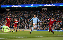 Manchester City's Leroy Sane (centre) scores a goal only to have it ruled offside moments later