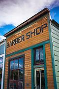 Historic barber shop, Ridgway, Colorado USA