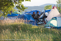 Camping at the Buffalo Chip during the annual Sturgis Black Hills Motorcycle Rally. Sturgis, SD, USA. Wednesday August 9, 2017. Photography ©2017 Michael Lichter.