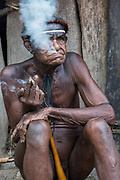 Dani tribe man (Dokop)<br /> Jiwika village<br /> Suroba<br /> Trikora Mountains<br /> West Papua<br /> Indonesia