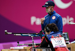 TOKYO, JAPAN - SEPTEMBER 01: McKenna Geer of USA competes in the R5 - Mixed 10m Air Rifle Prone SH3 Qualification on day 8 of the Tokyo 2020 Paralympic Games at Asaka Shooting Range on September 01, 2021 in Asaka, Japan.  Photo by Vid Ponikvar / Sportida