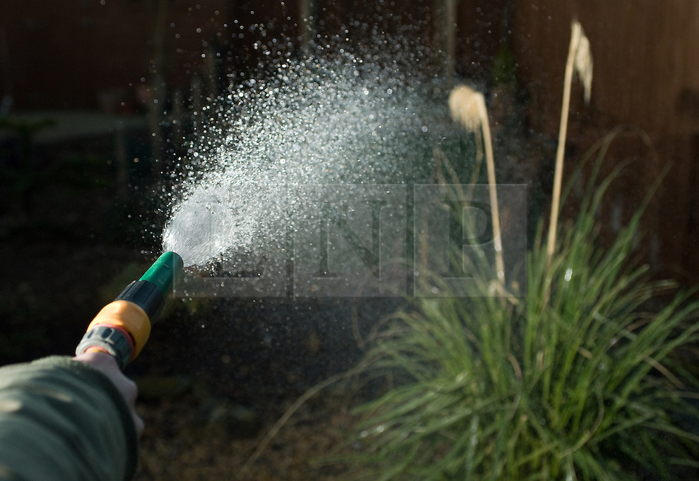 FILE PICTURE © Licensed to London News Pictures. 24/02/2012.Saltburn, UK. Water companies across southern and eastern England are to introduce hosepipe bans amid drought conditions. Southern Water, South East Water, Thames Water, Anglian Water, Sutton and East Surrey, Veolia Central and Veolia South East are to enforce restrictions. Five of the companies said they will impose bans from 5 April. Photo credit : Ian Forsyth/LNP