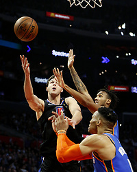 March 8, 2019 - Los Angeles, California, U.S - Los Angeles Clippers' Danilo Gallinari (8) goes to basket while defended by Oklahoma City Thunder's Terrance Ferguson (23) during an NBA basketball game between Los Angeles Clippers and Oklahoma City Thunder Friday, March 8, 2019, in Los Angeles. (Credit Image: © Ringo Chiu/ZUMA Wire)