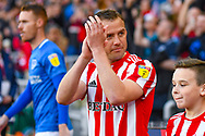 Lee Cattermole of Sunderland (6) enters the field during the EFL Sky Bet League 1 first leg Play Off match between Sunderland and Portsmouth at the Stadium Of Light, Sunderland, England on 11 May 2019.