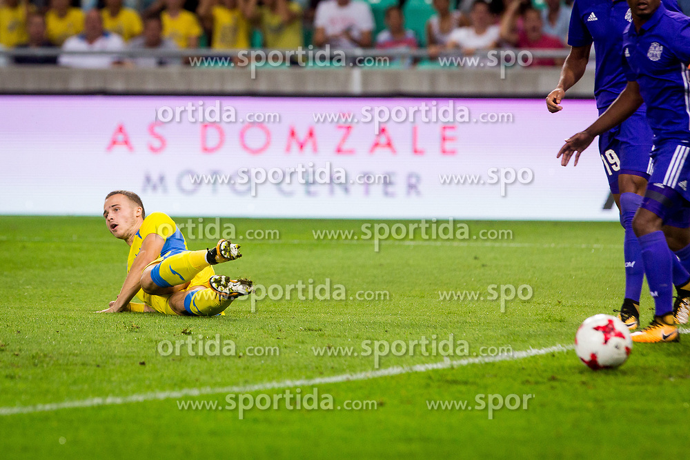 Jan Repas of NK Domzale during football match between NK Domzale and Olympique de Marseille in First game of UEFA Europa League playoff round, on August 17, 2017 in SRC Stozice, Ljubljana, Slovenia. Photo by Ziga Zupan / Sportida