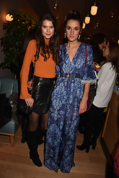 Left to right, Sarah Ann Macklin and Rosanna Falconer at the launch of Fiume at Battersea Power Station, Battersea, London England. 16 November 2017.<br /> Photo by Dominic O'Neill/SilverHub 0203 174 1069 sales@silverhubmedia.com