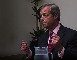 Emmanuel Centre, Westminster, London, June 22nd 2016. UKIP leader and vociferous anti-EU campaigner Nigel Farage delivers his final speech prior to the EU referendum to be held on June 23rd.