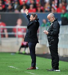 Bristol City head coach Lee Johnson appeals as Nottingham Forest waste time at Ashton Gate Stadium - Mandatory by-line: Paul Knight/JMP - 01/10/2016 - FOOTBALL - Ashton Gate Stadium - Bristol, England - Bristol City v Nottingham Forest - Sky Bet Championship