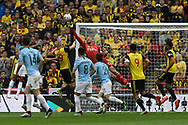 Heurelho Gomes (1) of Watford punches the ball clear of the goal during the The FA Cup Final match between Manchester City and Watford at Wembley Stadium, London, England on 18 May 2019.