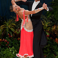 Mirko Gozzoli & Edita Daniute perform their dance during the professional ballroom competition of the United Kingdom Open Dance Championships held in Bournemouth International Centre, Bournemouth, United Kingdom. Wednesday, 20. January 2010. ATTILA VOLGYI