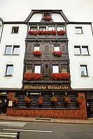 View outside of the Altdeutsche Weinstube Hotel and Restaurant, Rüdesheim, Germany (Vertical).
