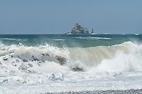 Surf crashing onto Rialto Beach , Olympic National Park