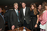 JOE JOHNSON; ZAC GOLDSMITH; JEMIMA KHAN, Party to celebrate the publication of 'Winter Games' by Rachel Johnson. the Draft House, Tower Bridge. London. 1 November 2012.
