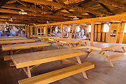 Mess hall interior at Manzanar National Historic Site, Lone Pine, California USA
