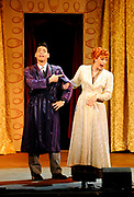"""Euriasmis Losada as Ricky Ricardo and Thea Brooks as Lucy Ricardo perform in """"I Love Lucy"""" Live on Stage at the Hanover Theatre for the Performing Arts on Friday, March 6, 2015."""