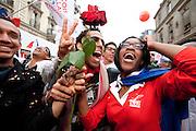 Paris, France. 6 Mai 2012.Victoire de Francois Hollande a l'élection présidentielle 2012.