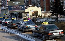 PRISTINA, KOSOVO - DECEMBER 14 - taxi, mercedes