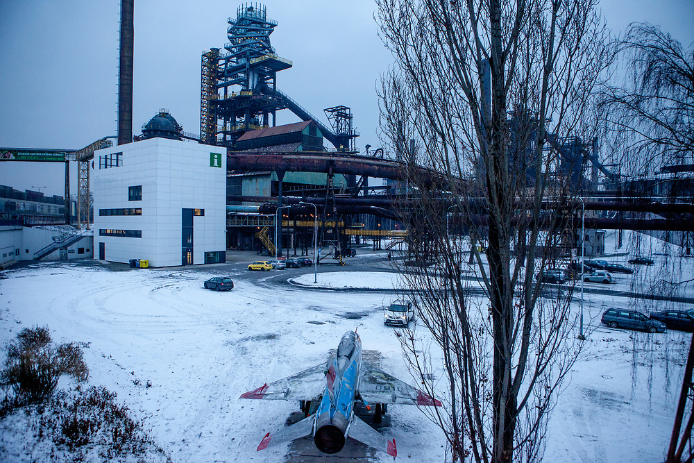 """View to """"Dolni Vitkovice"""" (Lower Vitkovice) a former industrial area in Ostrava now tranformed and used as a museum and a multipurpose cultural facility."""