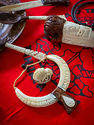 Carved Cow Bone, Vaitahu Village, Tahuata, Marquesas; French Polynesia; South Pacific