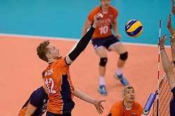 31-05-2015 NED: CEV EK Kwalificatie Nederland - Spanje, Doetinchem<br /> Nederland wint met 3-1 van Spanje en plaatst zich voor het EK in Bulgarije en Italie / Kay van Dijk