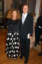 NICOLE FARHI and SIR DAVID HARE at The Royal Academy dinner before the official opening of the Summer Exhibition held at the Royal Academy of Art, Burlington House, Piccadilly, London W1 on 6th June 2006.<br /><br />NON EXCLUSIVE - WORLD RIGHTS