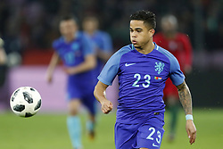 Justin Kluivert of Holland during the International friendly match match between Portugal and The Netherlands at Stade de Genève on March 26, 2018 in Geneva, Switzerland