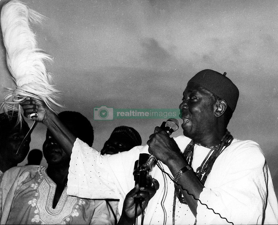 Oct 02, 1979; Lagos , Nigeria; Nigeria returned to civilian rule yesterday after 13 years. About 70,000 people jammed the Tafawa Belwa Square in Lagos to cheer the inauguration of Civilian President Alhaji Shehu Shagari. The picture shows Dr. NNAMDI AZIKIWE, the former President of Nigeria's first Republic, and leader of the Nigerian Peoples Party. (Credit Image: © Keystone Press Agency/Keystone USA via ZUMAPRESS.com)