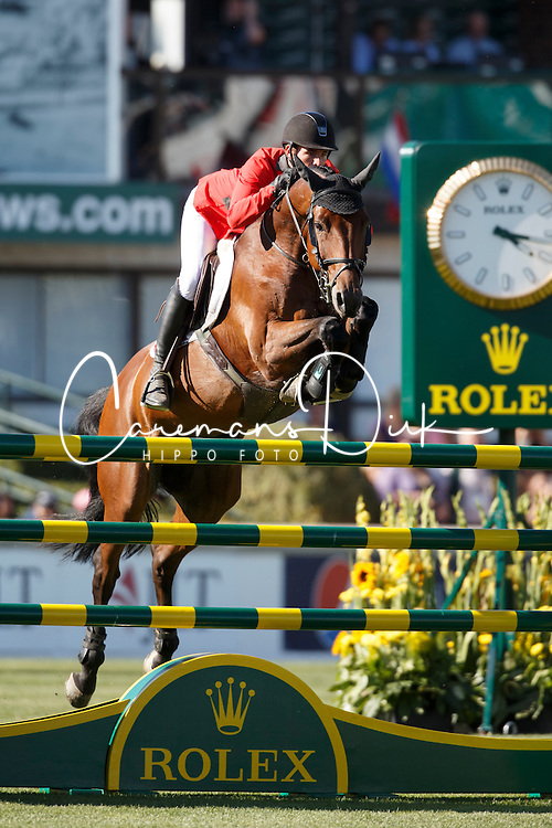 Guerdat Steve, (SUI), Concetto Son <br /> BMO Nations Cup<br /> Spruce Meadows Masters - Calgary 2015<br /> © Hippo Foto - Dirk Caremans<br /> 13/09/15