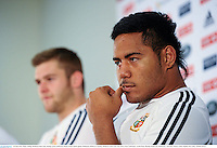 24 June 2013; Manu Tuilagi, British & Irish Lions, during a press conference ahead of their match against Melbourne Rebels on Tuesday. British & Irish Lions Tour 2013, Press Conference. AAMI Park, Olympic Boulevard, Melbourne, Australia. Picture credit: Stephen McCarthy / SPORTSFILE