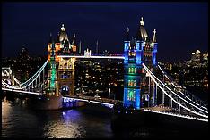 Tower Bridge Lit Up 30-5-12