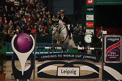 Ehning Marcus, (GER), Cornado NRW<br /> Longines FEI World Cup<br /> CSIO Leipzig 2016<br /> © Hippo Foto - Stefan Lafrentz