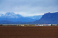 A snow covered Four Peaks and the Western tip of the Superstitions - seen from Queen Creek, AZ
